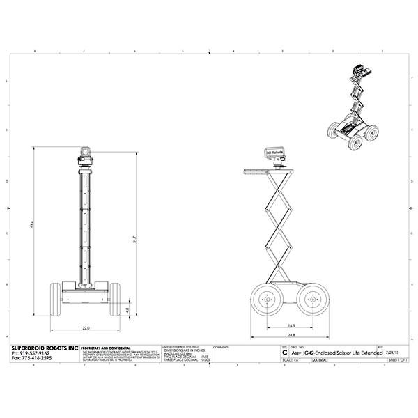 Superdroid 4WD Sissor Lift